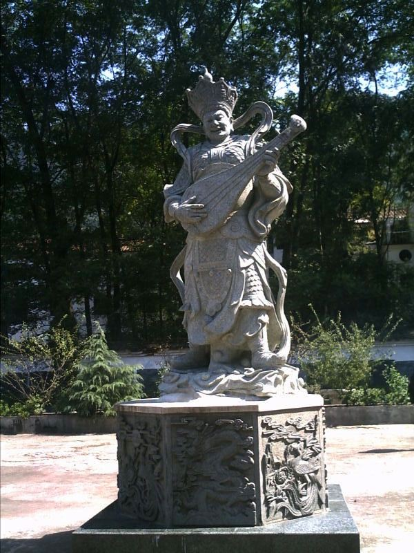 one of the four heavenly kings, JiuHua Shan 九華山